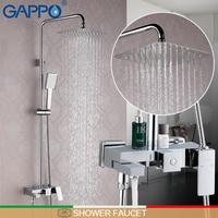 GAPPO Shower Faucet Bathroom Faucet Mixer Brass Shower Mixer Tap Rainfall Bath Shower Mixers Wall Mount