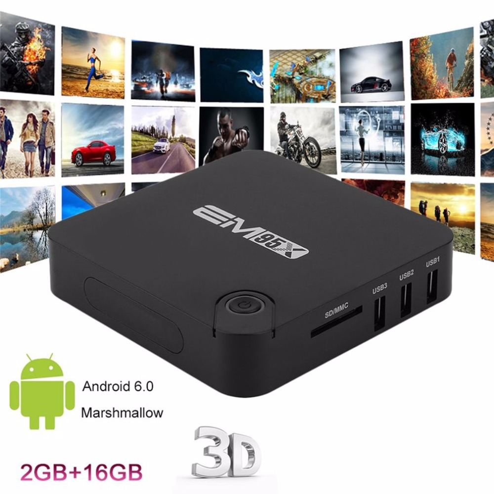 Portable Smart 2G TV BOX Smart Set Top Box 2G RAM+8/16G ROM Quad Core H265 WIFI 3G 3D Media Player For Android 6.0
