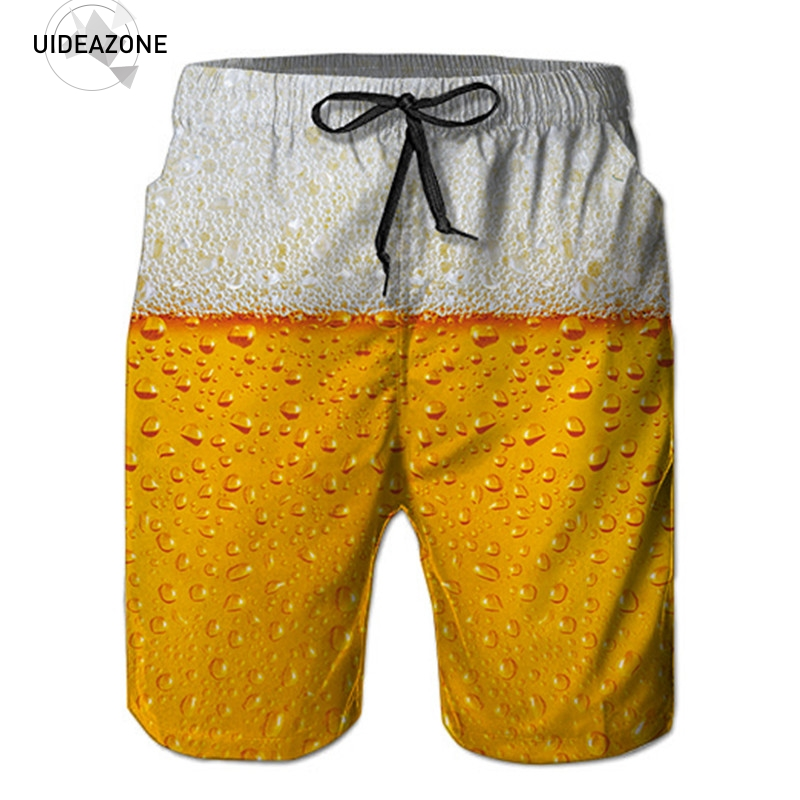 2018 New Shorts Men Summer Hot Sale Beach Shorts Homme Casual Style Loose Elastic Fashion Brand Clothing Beer 3D Short Pants