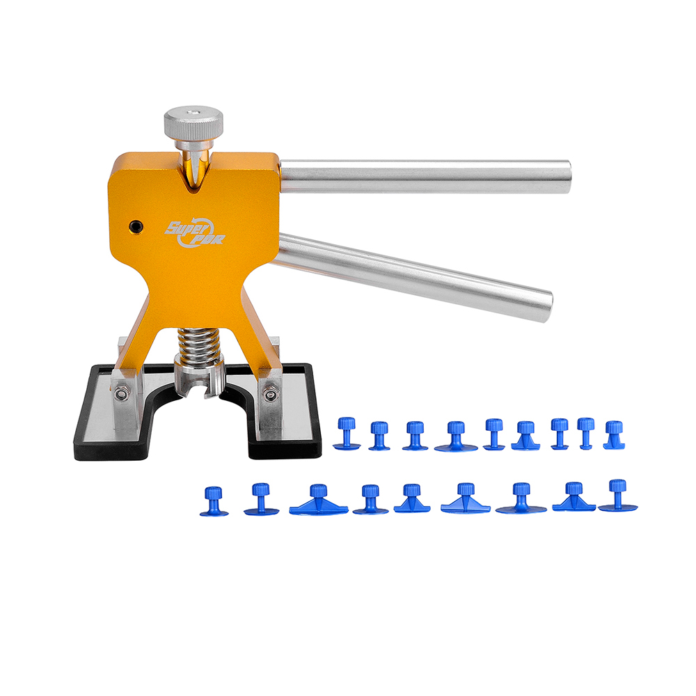 ФОТО Car Dent Puller PDR Paintless Dent Repair Tools Gold Glue Puller 18 pieces Blue Tabs