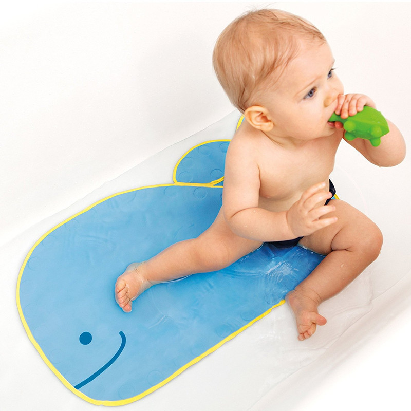 Baby Cartoon PVC Play Mat with Suction Cups Toilet Floor Rug Bathtub Carpet 40*70cm | Happy Baby Mama
