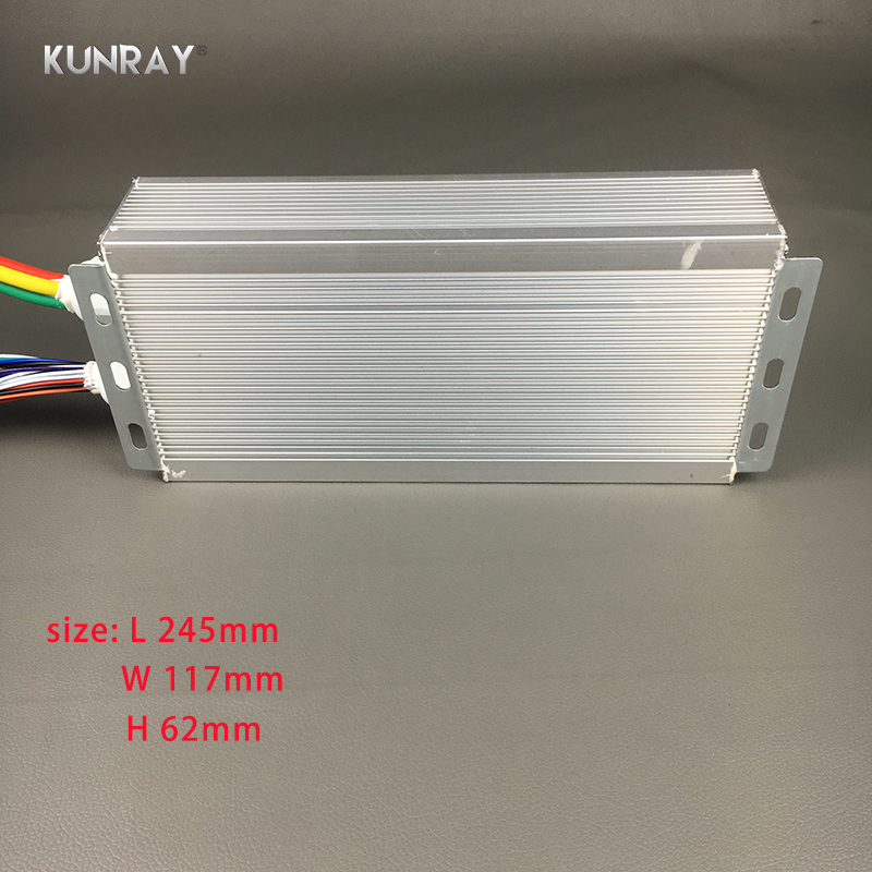 KUNRAY BLDC 42V - 72V 3000W Brushless Motor Speed Controller 80A 24Mosfet  120Degree Phase With Sensor Hall For Electric Bike A13