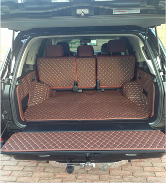 Full set trunk cargo mats + Back door mat for Toyota Land Cruiser 200 5seats 2017-2008 waterproof boot carpets,Free shipping