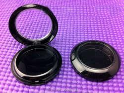 50 шт./лот Черный Тени для век случае пустой коробка для Косметической Пудры с прозрачной крышкой круглый Пластик Румяна Бальзам для губ