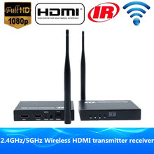 200ft Wireless WIFI + Loop Out + IR + HDMI Extender 60m HD 1080P Wireless HDMI Video Audio Transmitter Work Like HDMI Splitter(China)