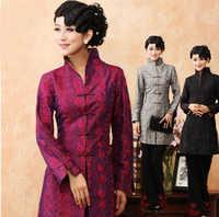 送料無料中国の伝統女性の刺繍ベルトlengtheダストコートジャケットml xl xxl 3xl 4xl 5xl