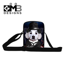 3D Animal Print Mini Messenger Bags For Women Men Funny Dog Play Casual Travel Shoulder Bags Kids Crossbody Bag Hand Bags Bolsas