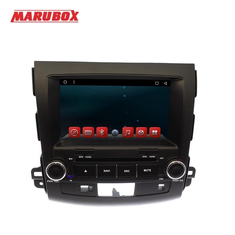 MARUBOX M8007 Lecteur DVD de Voiture pour Mitsubishi Outlander 2006 ~ 2012 1024X600 Core Android 6.0.1 Radio GPS BT wifi 1 GB RAM 16 GB ROM