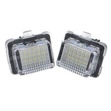 2 Pcs Numero di Licenza LED Luce Targa Lampadine Lampade per la Mercedes Benz W204 M8617