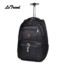 Letrend Business Backpack Oxford Travel Bag Men Suitcase Wheels Trolley Student Large Capacity Carry On Rolling Luggage Women