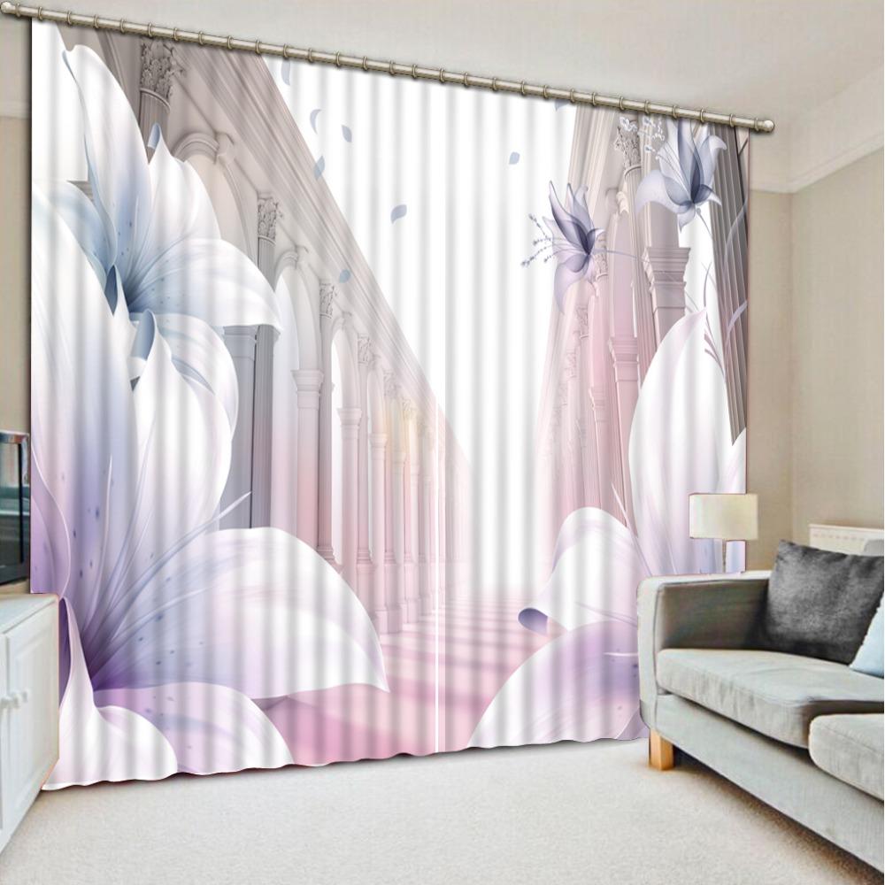 Europan luxus vorhänge blackout 3d fenster vorhänge erweitern raum blume elegante wohnzimmer vorhänge für heimtextilien