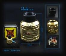 Complyfe Битва RDA распылитель 24 Диаметр Battle cap battle палубе испаритель для 510 коробка моды приходят из SXK