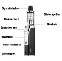 Lexintong MINI 80W Safe Electronic Cigarette Set Big Smoke Vaporizer Hookah Vaper Mechanical Cigarettes vape pen