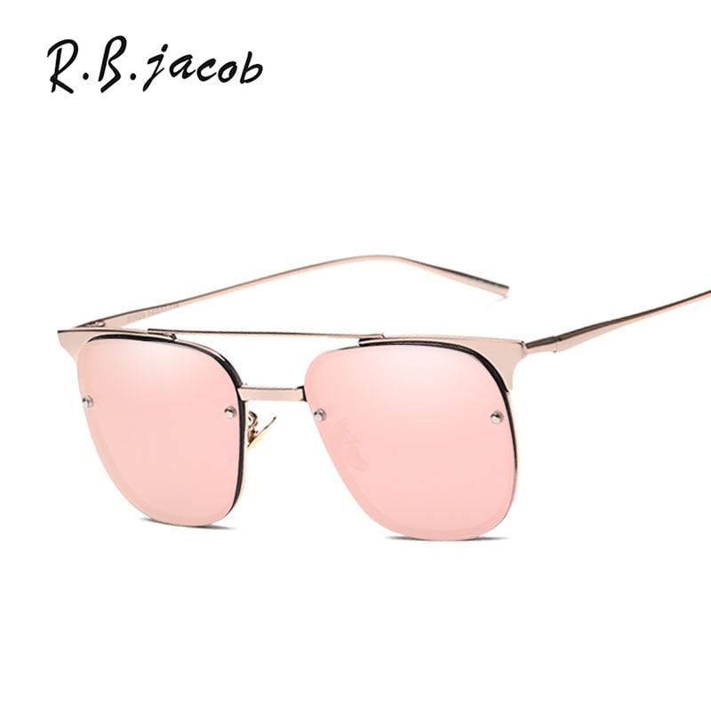Luxury Sunglasses Women 2017 New Brand Designer Lady Female Sun glasses UV400 Hipster Gradient Rimless Pilot