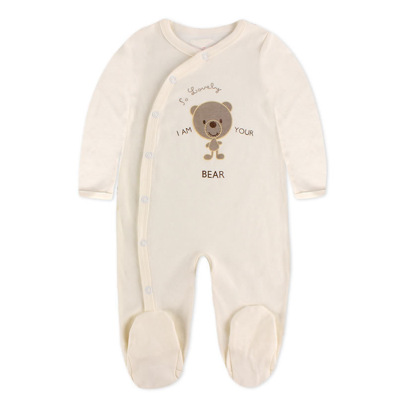Autumn Newborn Brand 100% cotton Baby Rompers boys girls Long Sleeves Soft Baby Clothing Fashion Baby Pajamas Infant Clothes cotton infant romper newborn overall kids striped fashion clothes autumn baby rompers boys girls long sleeves jumpsuit