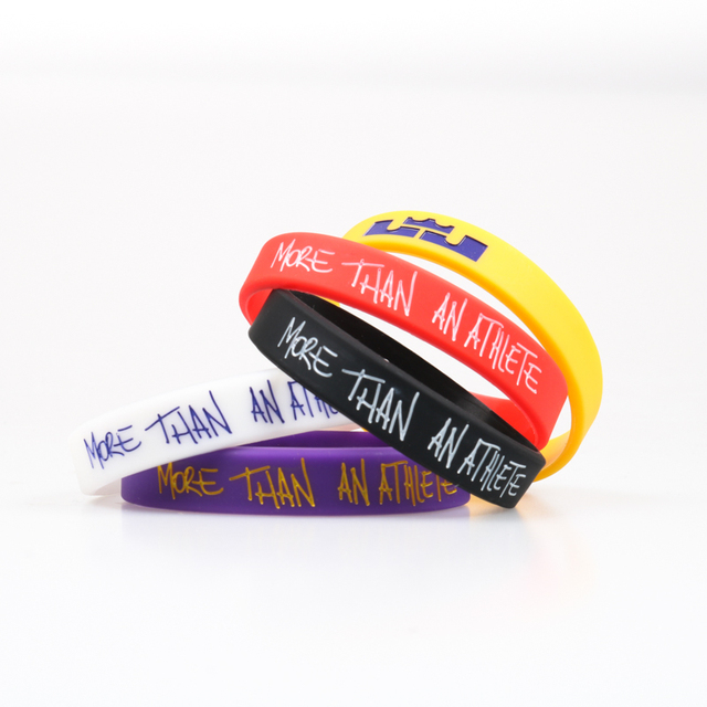High Quality LA Lebron James Silicone Bracelet I PROMISE Lakers More Than An Athlete Basketball Player Kids Siliocne Wristband 1