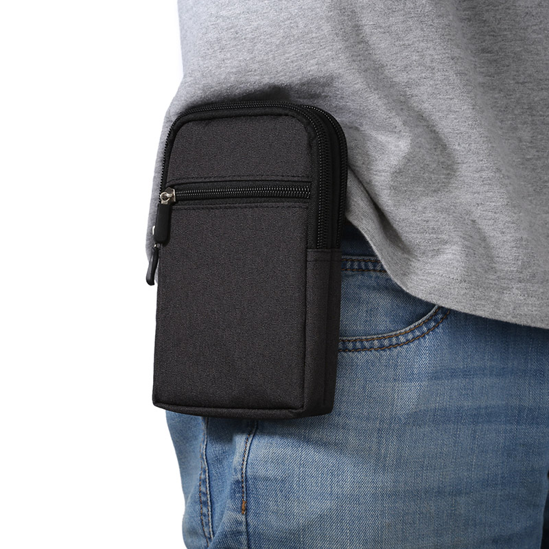 Belt Clip Holster Leather Pouch Sport Bags 2 Pockets Universal Holster phone bag case For Apple Iphone 4 4S 5 5C 5S 6 6S 7 8Plus