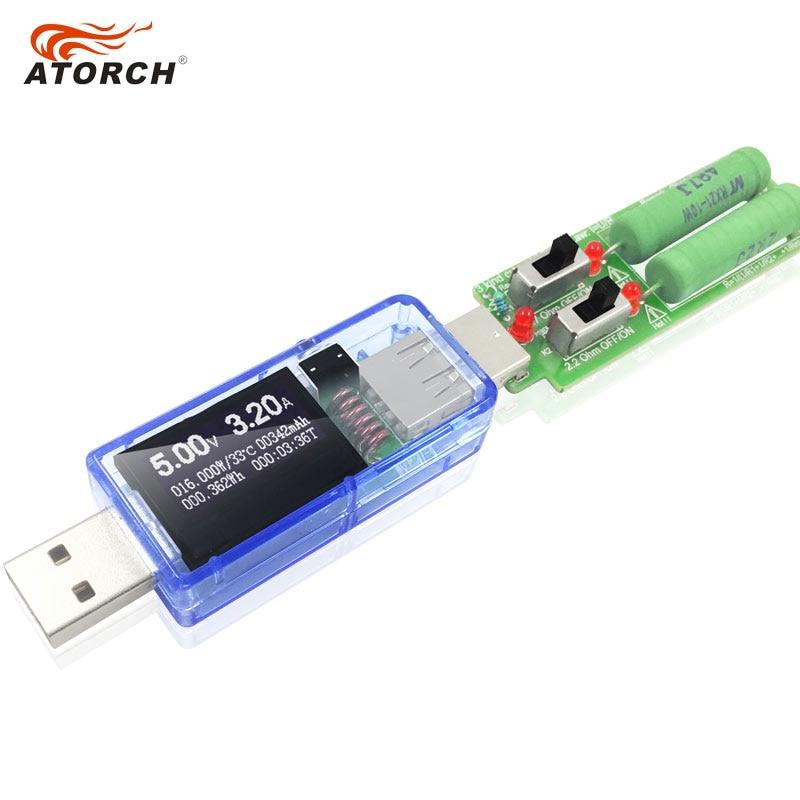 ATORCH USB testeris + apkrova DC Skaitmeninis voltmetras amperimetro - Matavimo prietaisai - Nuotrauka 5