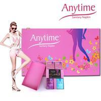 Anytime International Brand Gift Box Women Feminine Hygiene Anion Cotton Bamboo Medicated Menstrual Lady Sanitary Pad