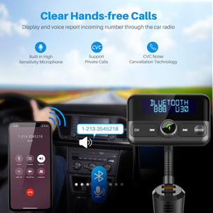 Image 5 - BT75S Bluetooth FM Transmitter YES/NO voice control Handsfree Call Car Kit with MP3 Player Dual USB Quick charge 3.0 Car Charger