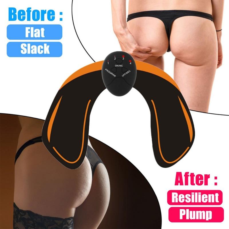 EMS Hip entrenador inalámbrico estimulador muscular ABS Fitness levantamiento de glúteos masaje de trasero eléctrico de la vibración de estimulación de adelgazamiento de cuerpo