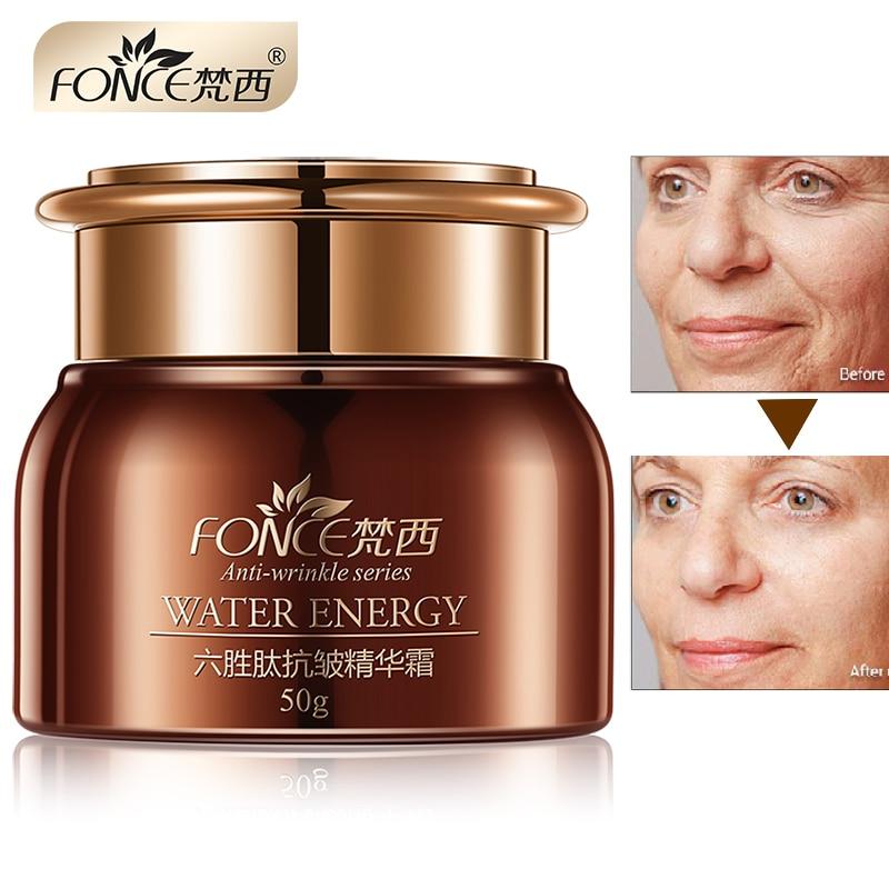 Face Cream Wrinkle Remover Moisturizer Six Peptide Skin Serum Fonce Korea Nourish Lifting Face Firming  Day Night Cream 50g