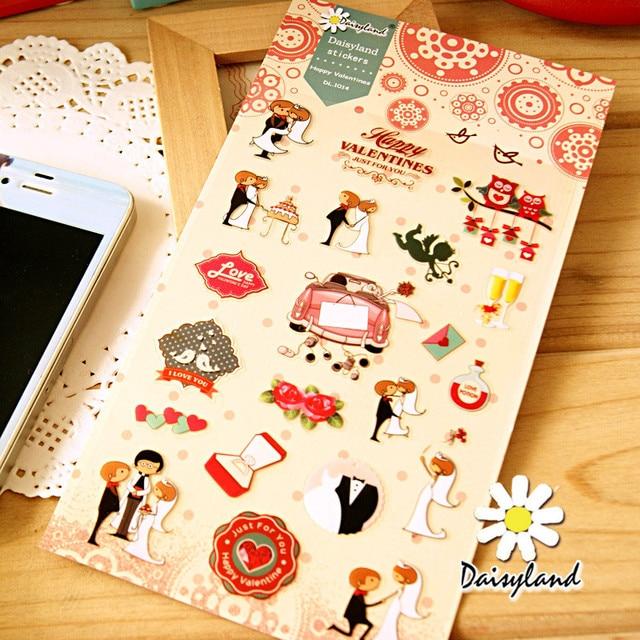 Korean Style Cute Happy Sweet Time Kawaii Wedding Planner Stickers For Children Sketchbook Diary School Supplies