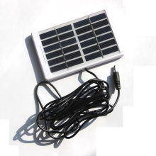 BUHESHUI 1.2W 6V Solar Panel With DC5521 Cable 3M Polycrystalline Solar Cell Battery Charger For 3.7V Battery Light 130*84MM