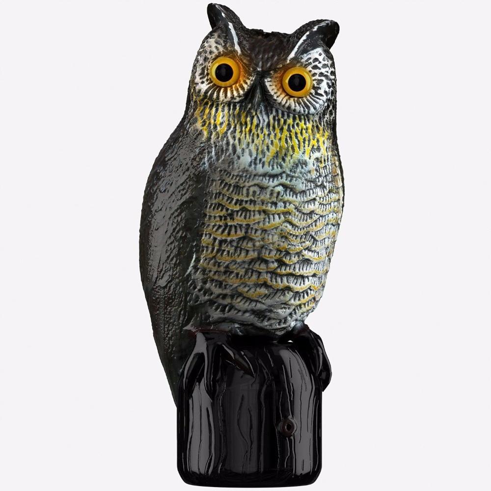Solar Powered Scarecrow Owl - Үлкен Realistic Owl - - Бақша өнімдері - фото 2