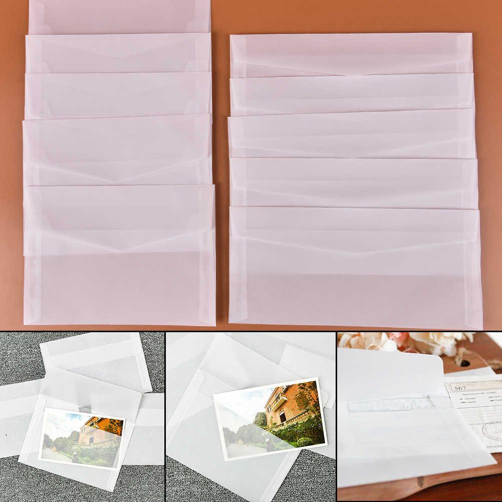 5 pcs/pack 2 taille translucide enveloppe Message carte lettre stockage papier cadeau papeterie fournitures scolaires