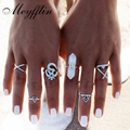 6 PCS Natural Stone Rings Sets Vintage Bohemian Turkish Midi Ring Set Punk Snake Joint Ring Knuckle Rings for Women Female