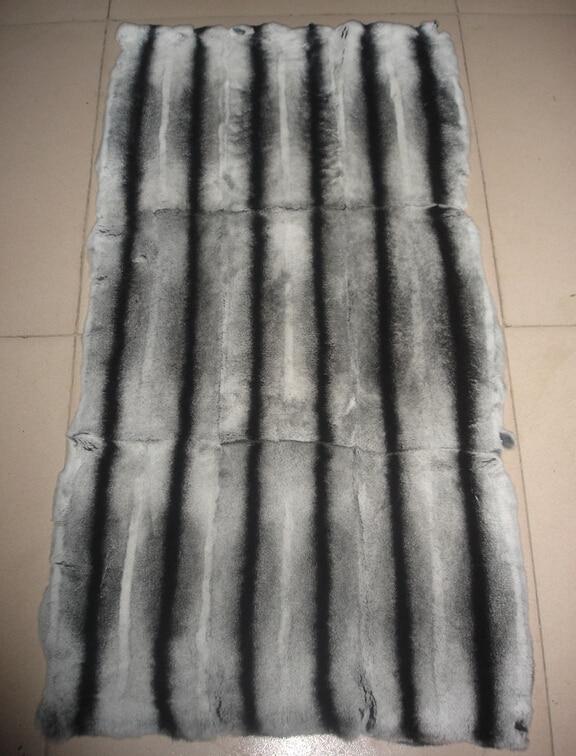 Plaques de fourrure Chinchilla teintées Rex/plaque de fourrure de lapin Chinchilla