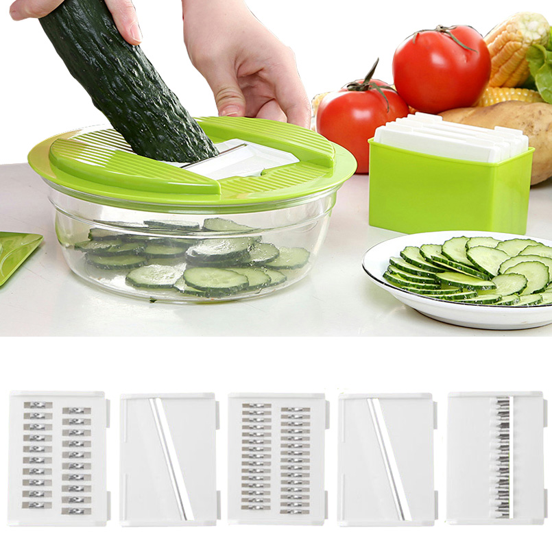 Manual Chopper Shredder Multifunctional Slicer Vegetable Salad Fruit Cutter Vegetable Slicer Multifunctional Shredder Cutting