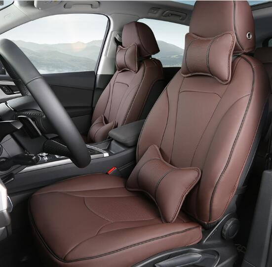 4 Colors Luxury Car Seat Covers Set Interior Covers Car Styling Cushion Protector With Pillows For Audi Q7 Car Accessories