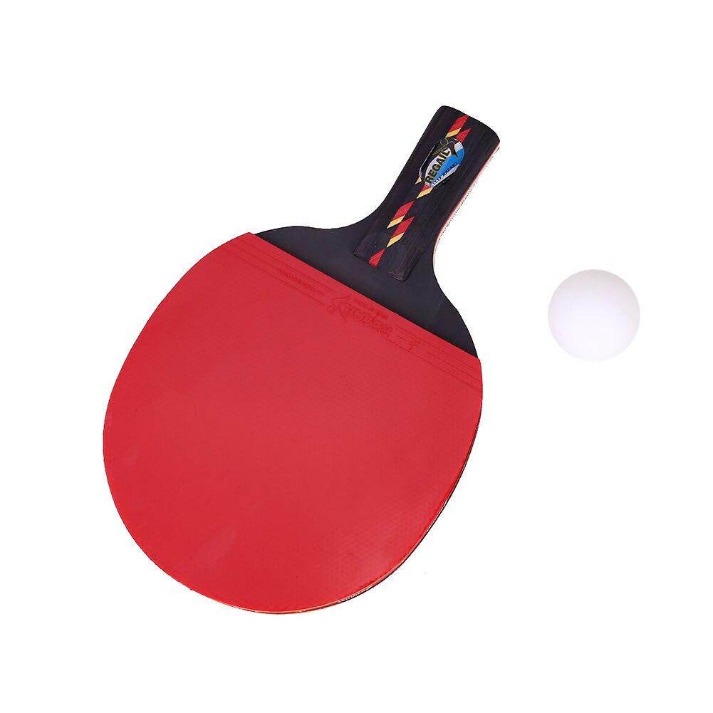 1 Set Table Tennis Racket Racquet Ping Pong Paddle Bat Multicolor Portable