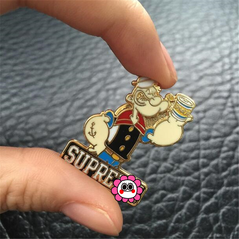 Anime Popeye Sailor Cosplay Costumes Accessories Badge Cartoon Metal Brooch