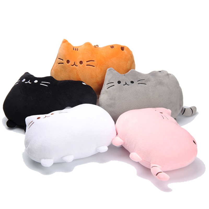 1pc 40*30cm Cute Plush Cushion Brinquedos New Cat Pusheen Pillow with Zipper Only Skin Biscuits Kids Toys Kawaii Kids Toys