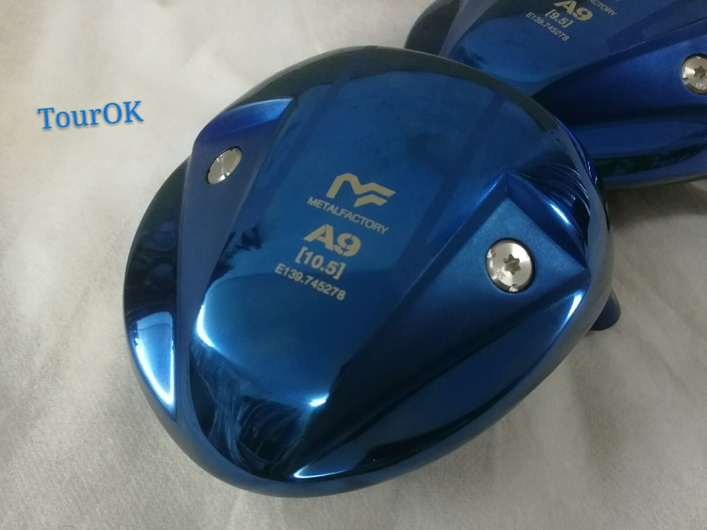 TourOK Golf club METALFACTORY A9 Golf driver heads 9 5or10 5loft Golf Clubs heads no drives