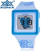 4aa86d78beeb Relojes deportivos de dibujos animados para niños reloj Digital LED para  mujer 100 M relojes deportivos de buceo impermeables pa.