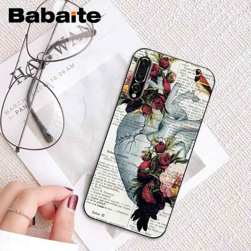 Babaite szkielet serca klatki piersiowej X Ray czarny miękki telefon etui na Huawei P10 Plus Mate10 Mate20 Pro 10 Lite P20 pro Honor10 View10