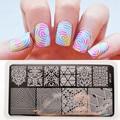 BP-L027 иллюзии тема ногтей штамп шаблон плиты изображения, прямоугольной штамповка плиты BORN PRETTY 12x6 см