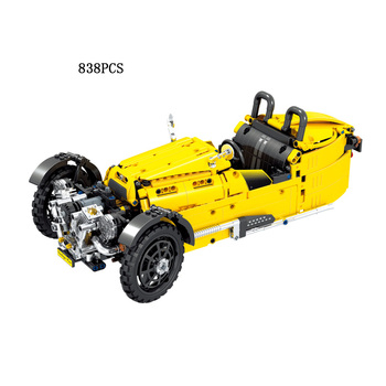 Classic 1:8 scale technics Morgen 3 Wheeler building block Vintage car bricks assemable model toys collection for gifts