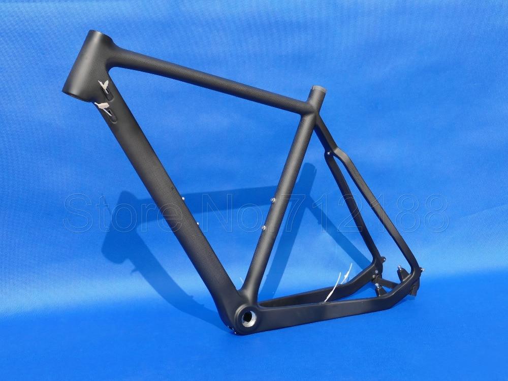 Toray Carbon Cycling Cyclocross Bike Bicycle Cyclo Cross BB30 Disc Frame 53cm