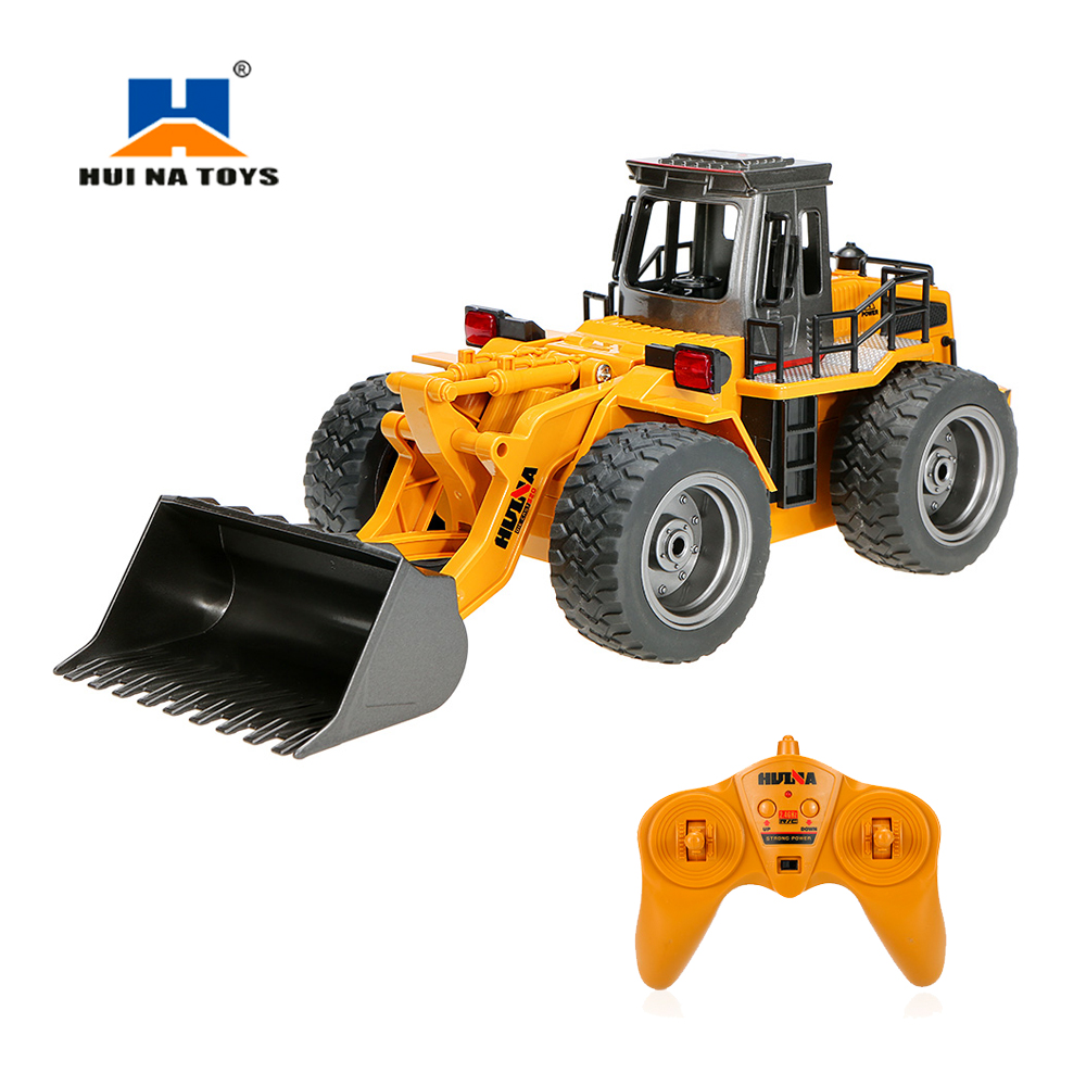 цена на HUI NA TOYS NO.1520 2.4G 6CH Mini RC Bulldozer Engineering Vehicle Truck Toys ABS Tractor Remote Control Toy Gift for Children