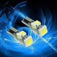 PA LED 10 PCS x Lumière Point En Gros LED T5 5smd Voiture ampoule LED Tableau De Bord De Voiture Dash lumière 5050 3528 Blanc Couleur 12 V