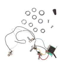 Guitar potentiometer Accessories ST Electric Guitar Circuit Wiring Harness 5 Ways Switch 2V1T1J A500K B500K цены онлайн