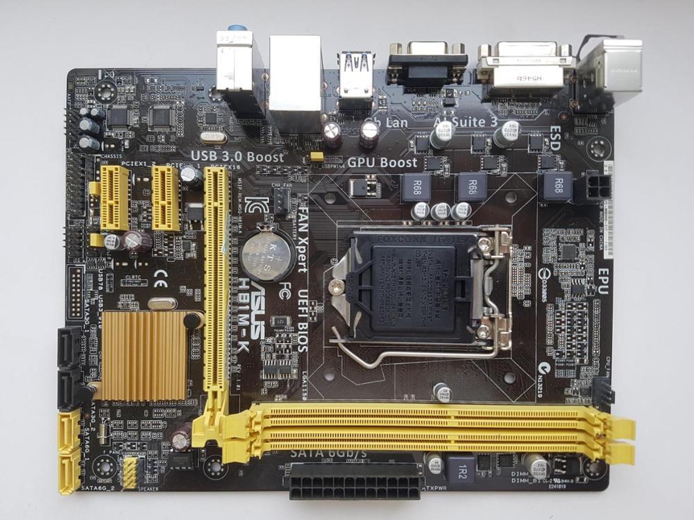 Asus H81M-K Desktop Motherboard H81 Socket LGA 1150 I3 I5 I7 DDR3 16G UEFI BIOS Original Used Original Motherbaord  Hot Sale