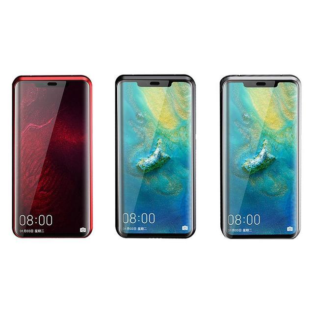 Funda del teléfono para Huawei Mate20 Mate20Pro Gloria V20 innovador doble-cara de vidrio magnético marco de Metal Protector titular de la