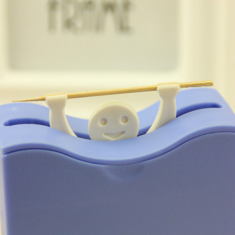 Creative Plastic Automatic Toothpick Holder Toothpick Box Dispenser Bucket Home Bar Table Accessories