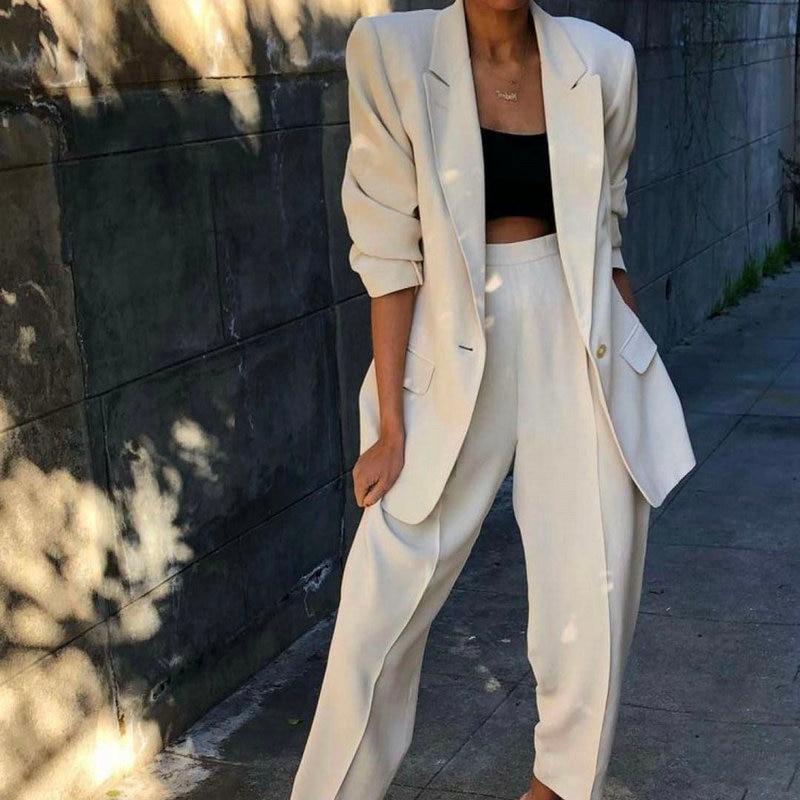 2 Piece Set Women Business Suits Ladies Office Suits Women Tuxedo Trouser Suit Formal Evening Wedding Suits